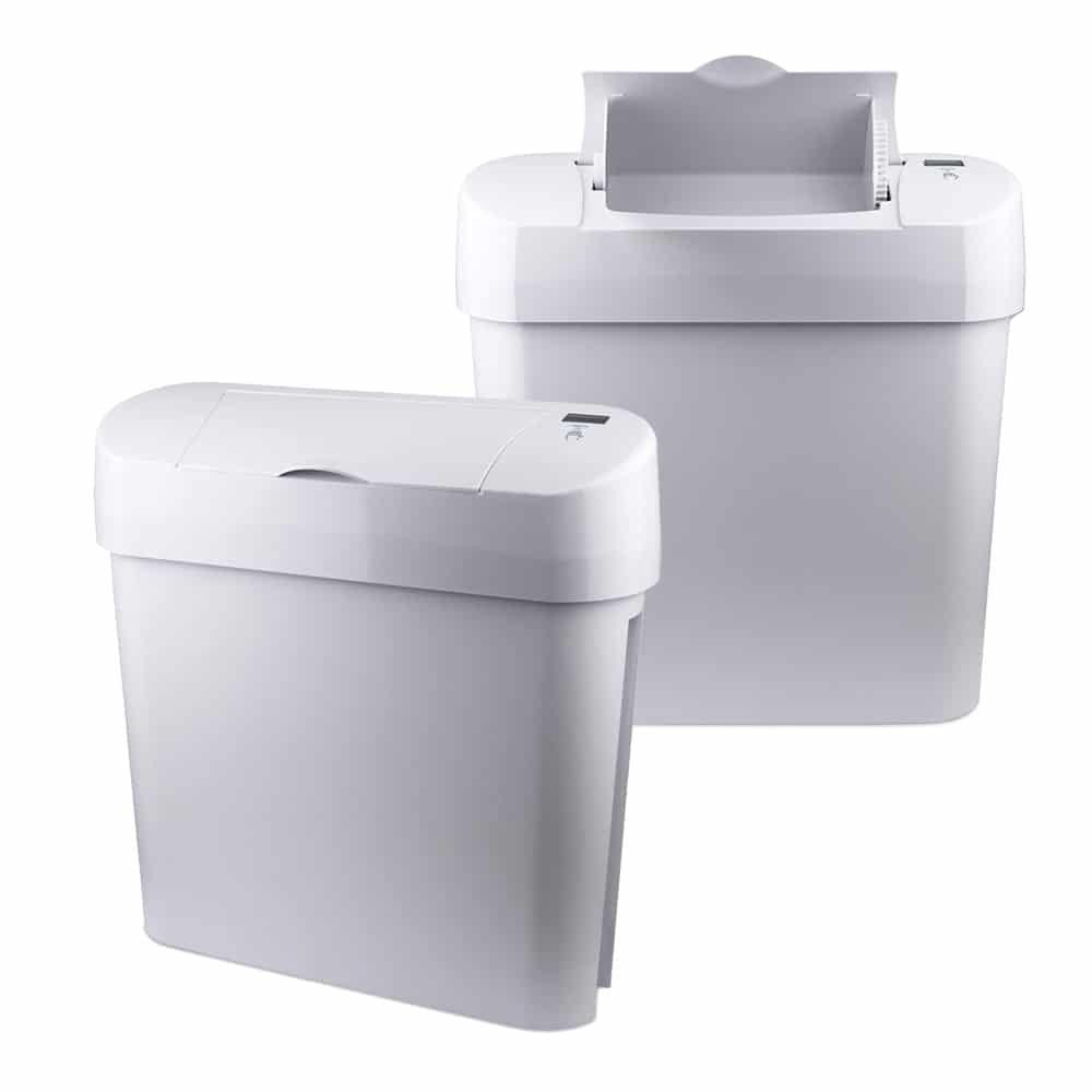 Freestanding feminine hygiene sanitary bins